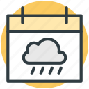 calendar, rian sign, weather forecast, weather informer, web ui icon