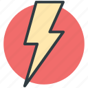 thunder, flash sign, thunderbolt, lightning