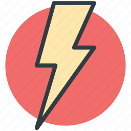 flash sign, lightning, thunder, thunderbolt icon