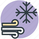 christmas, forecast, snowflake, weather, winds icon