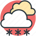 cloud, forecast, snow fall, weather, winters icon