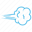 blowing, clouds, cloudy, forecast, weather, wind, windy icon