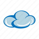 cloud, cloudy, dark, fluffy, forecast, upload, weather icon