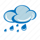 cloudy, forecast, light rain, rain cloud, rainy, storm, weather icon