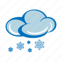 cloud, forecast, icy, snow, snowing, weather, winter icon