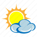 cloud, cloudy, day, forecast, sun, sunny, weather