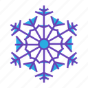 christmas, flake, forecast, night, snow, snowing, weather icon