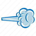 blowing wind, clouds, cloudy, howling wind, poof, storm, weather icon