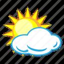 cloud, cloudy, sun, sunny, weather, forecast, temperature