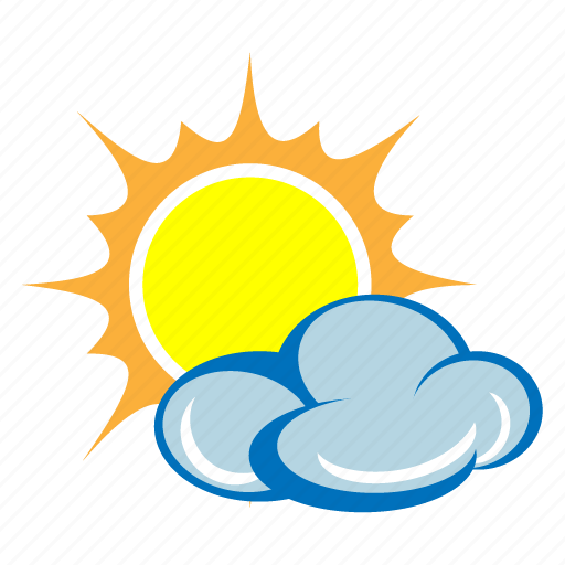 Cloud, cloudy, day, forecast, sun, sunny, weather icon ...