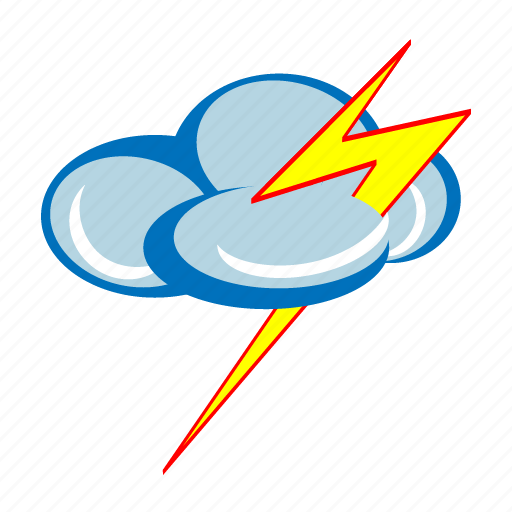 cloud, cloudy, forecast, lightning, storm, thunder, weather icon