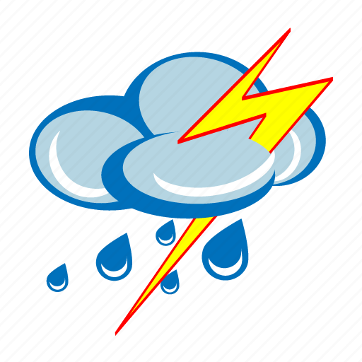 Image result for rain thunder icon