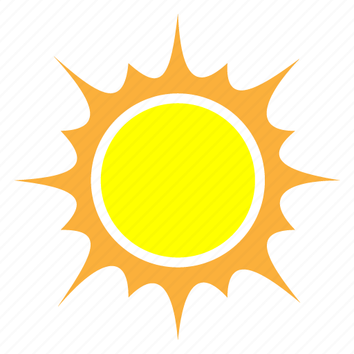abstract, clear, forecast, sun, sunny, temperature, weather icon
