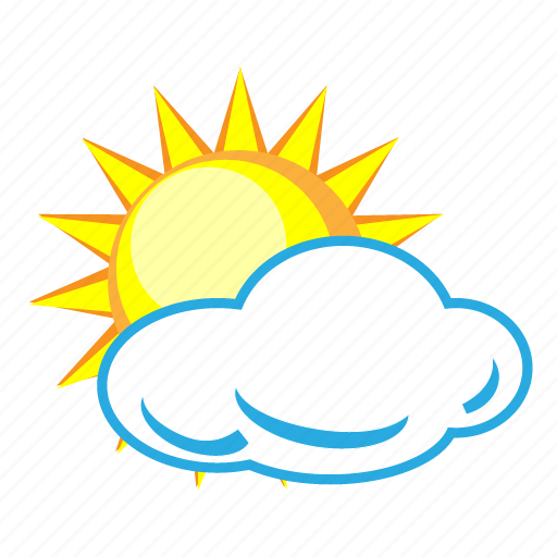 Cloud, cloudy, sun, sunny, weather, forecast, temperature icon - Download on Iconfinder