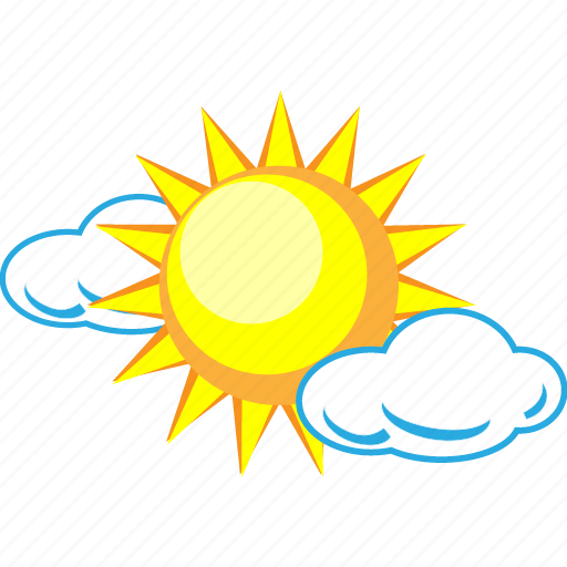 clouds, cloudy, forecast, scattered, sun, sunny, weather icon