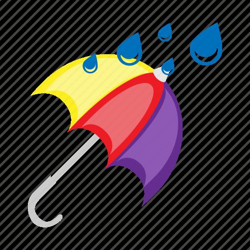 forecast, rain, raining, temperature, umbrella, weather, wet icon