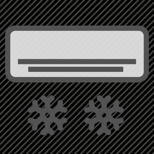 ac, cold, flake, snow, unit icon