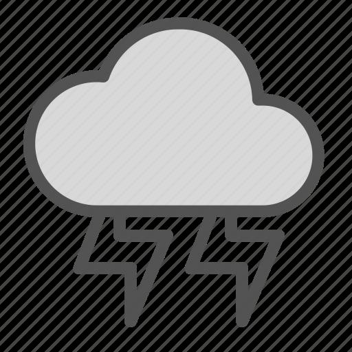 bolt, cloud, lightining, storm, thunder icon