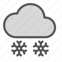 cloud, flake, heavy, snow, weather icon