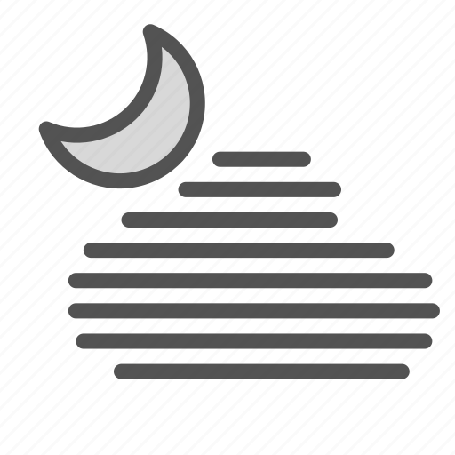 hot, humidity, moon, night, weather icon