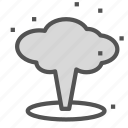 bomb, cloud, mushroom, nuclear icon