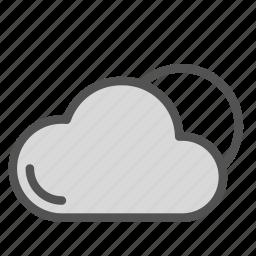 cloud, day, sky, sun icon