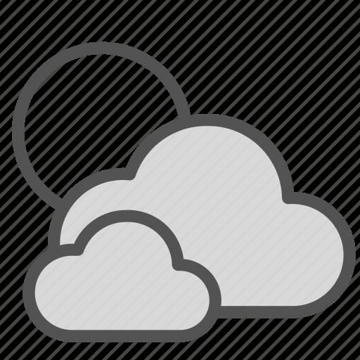 cloud, day, sky, sun, weather icon