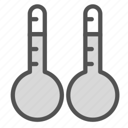 comparison, double, thermometer, two icon