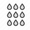 drop, droplets, water icon