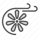 cooling, fan, system, wind icon