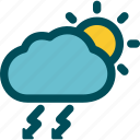 day, rainstorm, severe, thunderstorm, weather icon