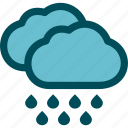 heavy, precipitation, rain, rainfall, rainstorm, weather icon