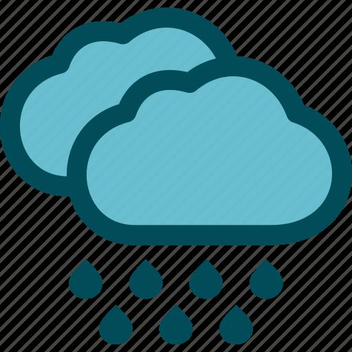 heavy, precipitation, rain, rainfall, rainstorm, weather icon