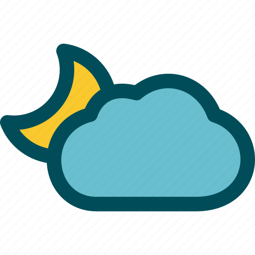 cloudy, mostly, night, partly icon