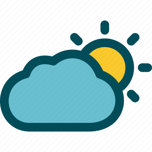 Cloudy, partly, sunny, day, mostly icon