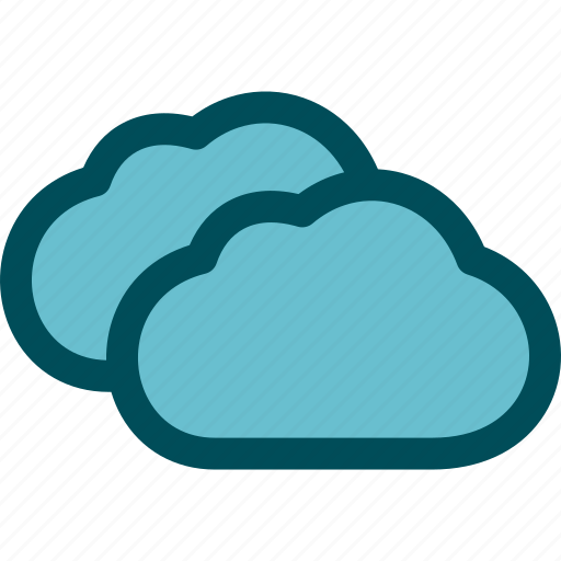 clouds, cloudy, heavy, mostly, weather icon