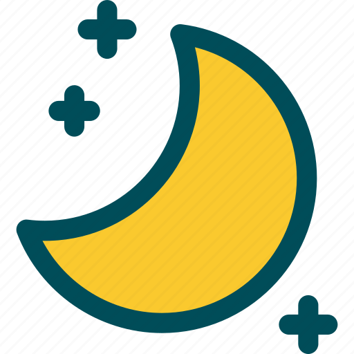 clear, moon, moon and stars, night icon