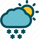 day, snow, snowfall, snowing, weather icon