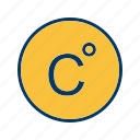 celcius, degree, temperature icon