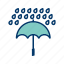 insurance, raining, umbrella icon