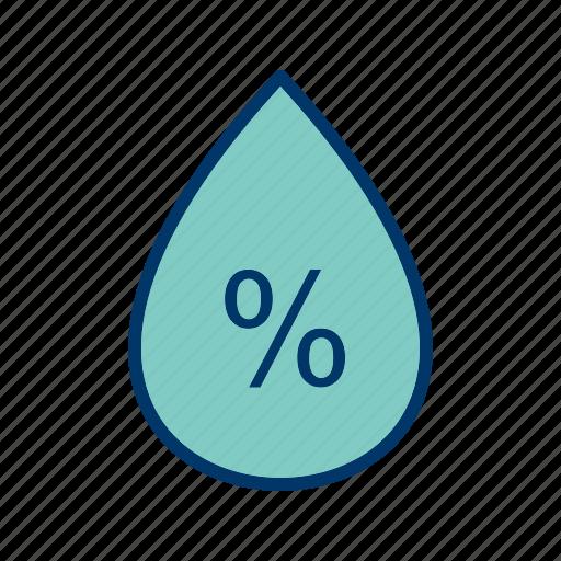 humidity, precipitation, water drop icon