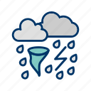 bad weather, rain, storm icon