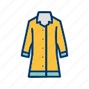 jacket, long coat, rain coat icon