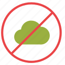 cancel, cloud, denied icon