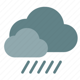 cloud, double, rain icon