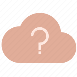 cloud, mark, question, unknown, weather icon