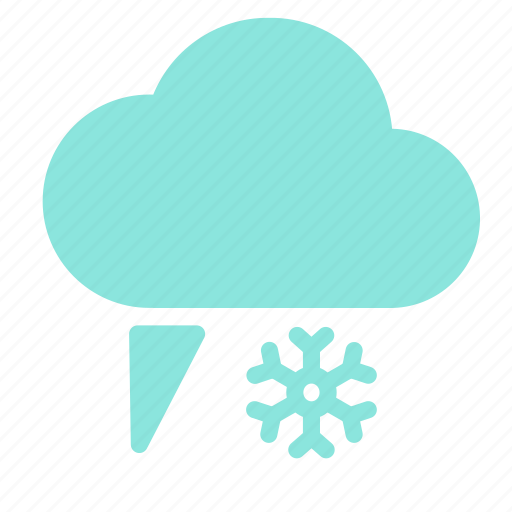 cloud, flake, rain, sleet, snow icon