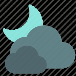 cloud, moon, night, sky icon