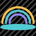 after, rain, rainbow icon