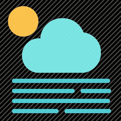 cloud, fog, heat, hot, sun icon